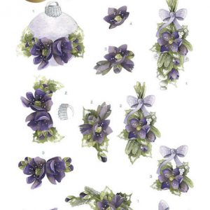 PRECIOUS MARIEKE EARLY SPRING 3D PUSH OUTS EARLY SNOWDROPS